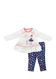 Infant Girls Lala Print Legging Set