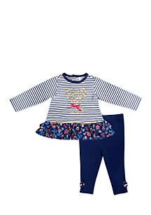 Infant Girls Stripe Amour Set