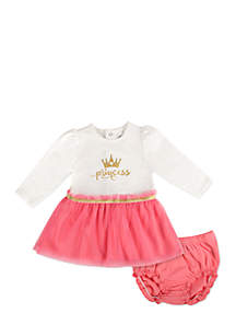 Infant Girls Princess Tutu Dress Set
