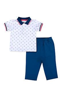 Infant Boys White Polo Set