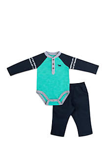 Infant Boys Navy Teal Set