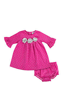 Baby Girls Pink Cord Dress