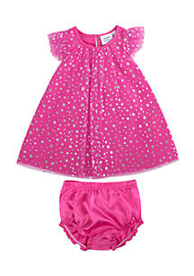 Baby Girls Pink Star Dress