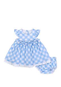 Baby Girls Gingham Dress Set
