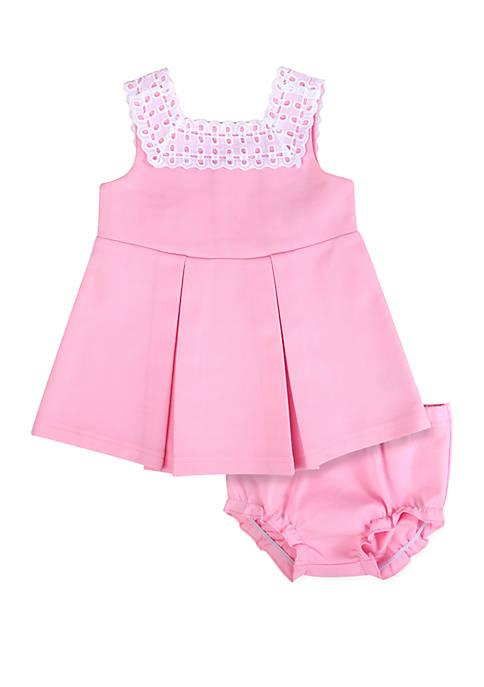 Baby Girls Pink Ponte Dress Set
