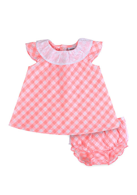 Crown & Ivy™ Baby Girls Seersucker Eyelet Set