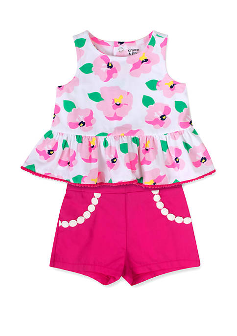 Baby Girls Floral 2 Piece Set