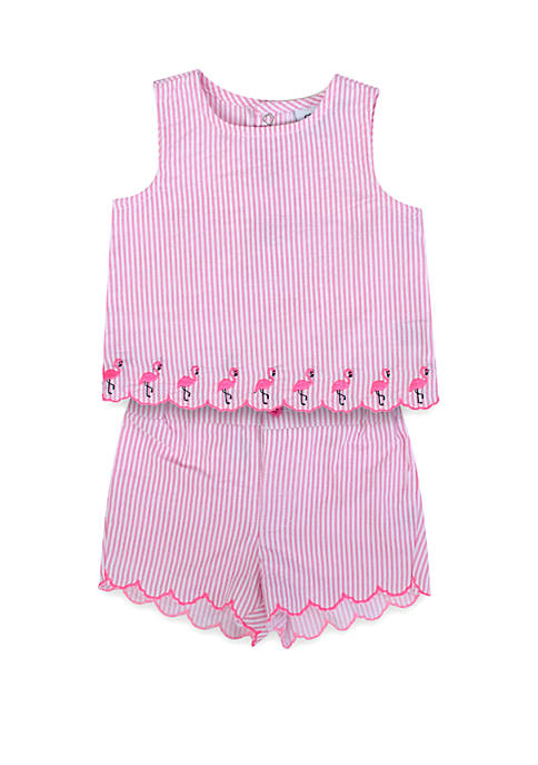Baby Girls Flamingo Set