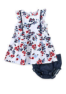 Crown & Ivy™ Baby Girls Floral Print Dress with Panty Set
