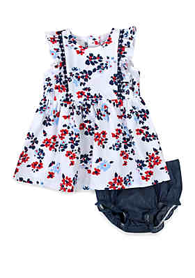 fb148fb78 Crown & Ivy™ Baby Girls Floral Print Dress with Panty ...