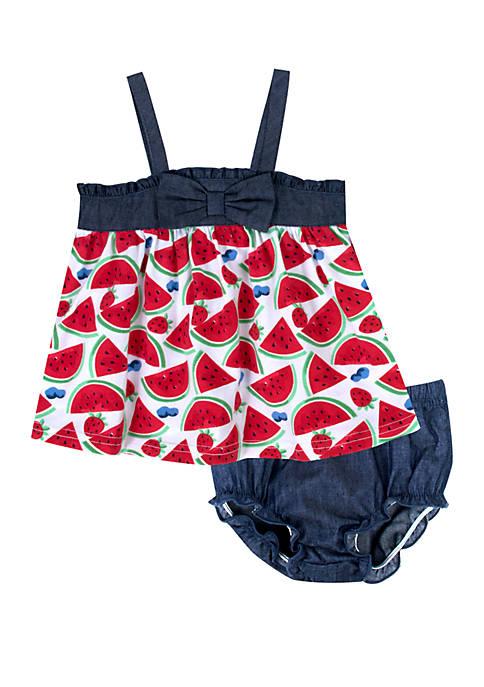 Baby Girls Watermelon Dress Set