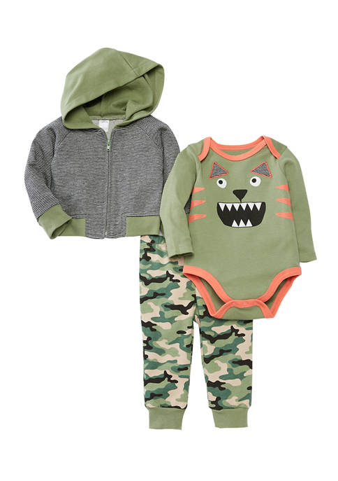 Crown & Ivy™ Baby Boys Monster Hooded Pants