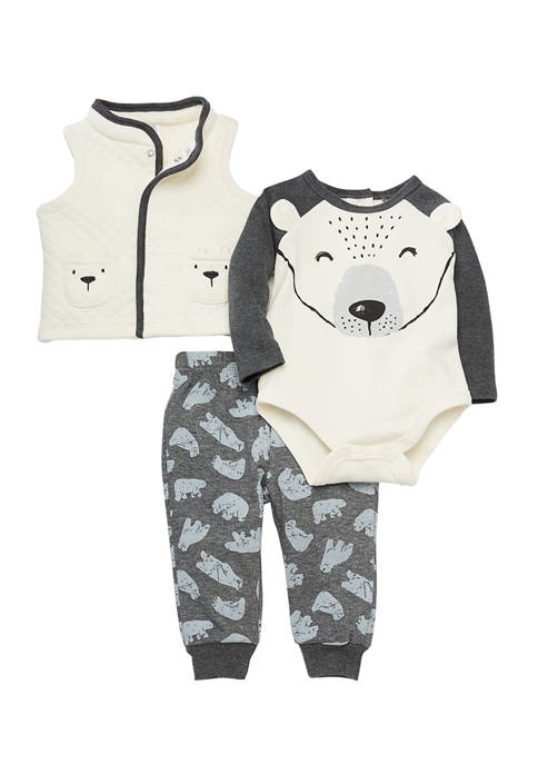 Crown & Ivy™ Baby Boys Polar Bear Vest