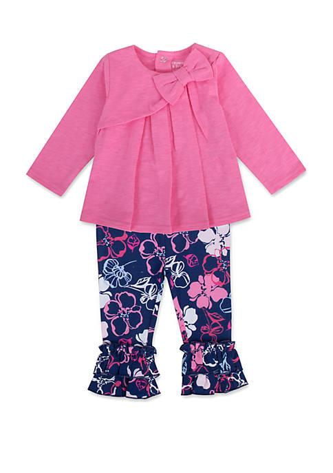 Crown & Ivy™ Baby Girls 2 Piece Floral