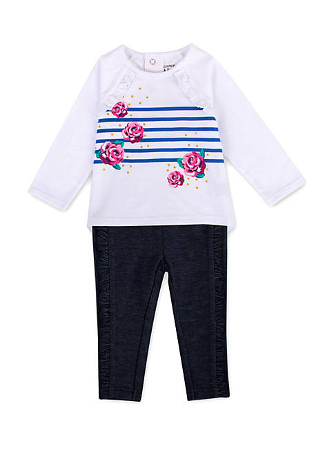 Crown & Ivy™ Baby Girls Floral Top and