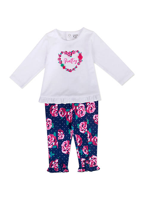 Crown & Ivy™ Baby Girls Floral Pant and