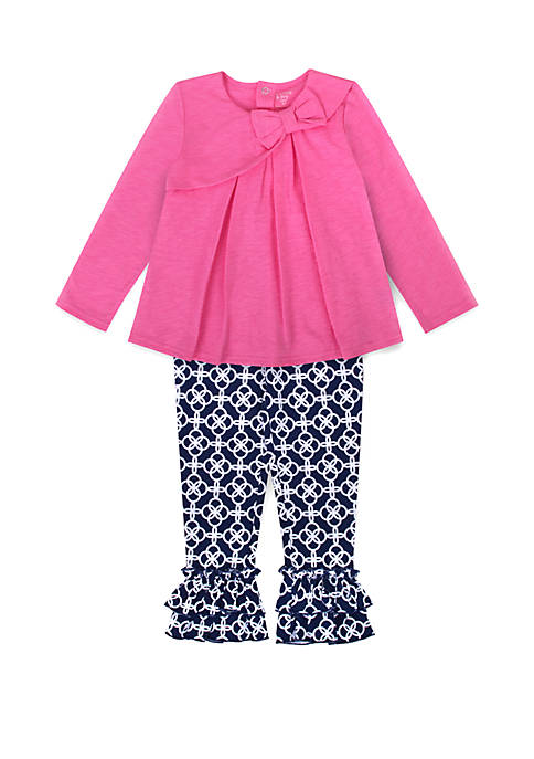 Crown & Ivy™ Toddler Girls Solid Top and