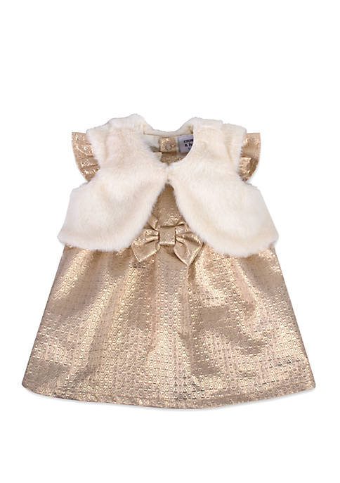 Crown & Ivy™ Baby Girls Shimmer 3 Piece