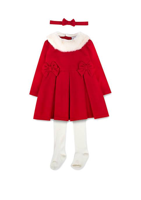 Crown & Ivy™ Baby Girls 3 Piece Santa