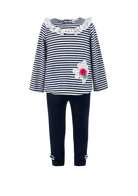 Crown & Ivy™ Baby Girls 2 Piece Stripe