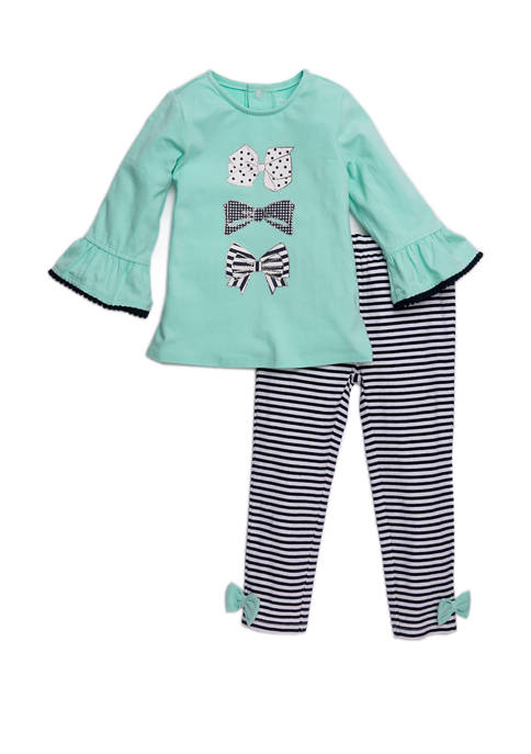 Crown & Ivy™ Toddler Girls Bow Top and