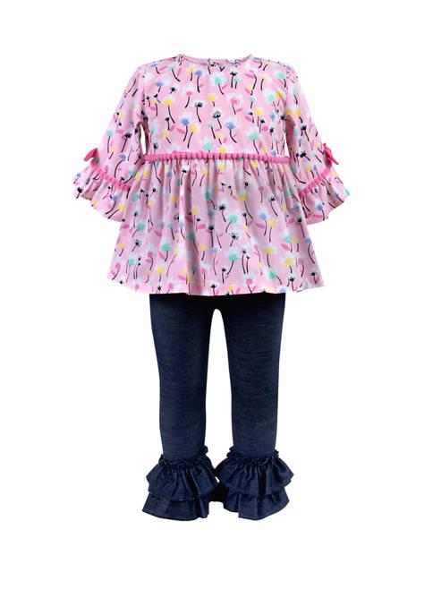 Toddler Girls Floral Top Legging Set
