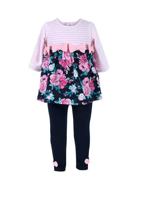 Crown & Ivy™ Baby Girls 3 Piece Floral