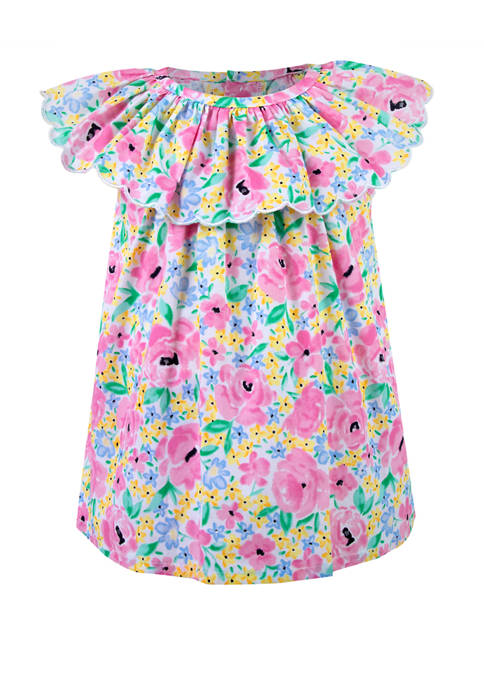 Crown & Ivy™ Baby Girls Pink Floral Dress