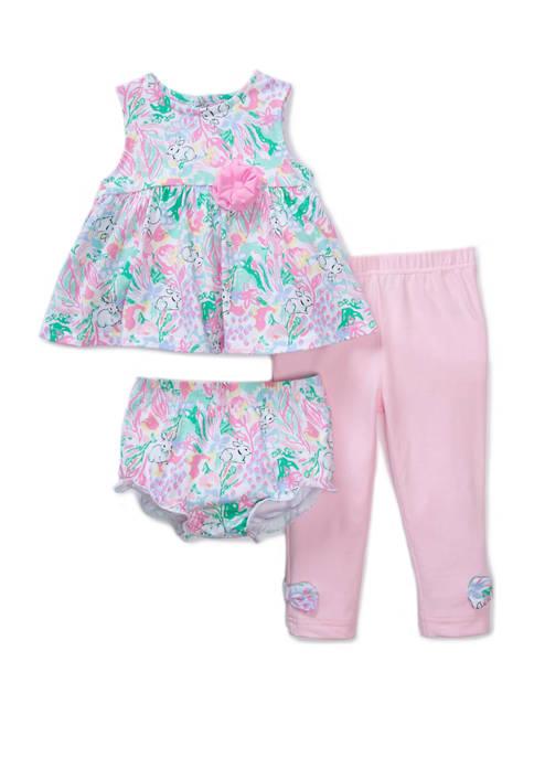 Crown & Ivy™ Baby Girls Floral Poplin Set