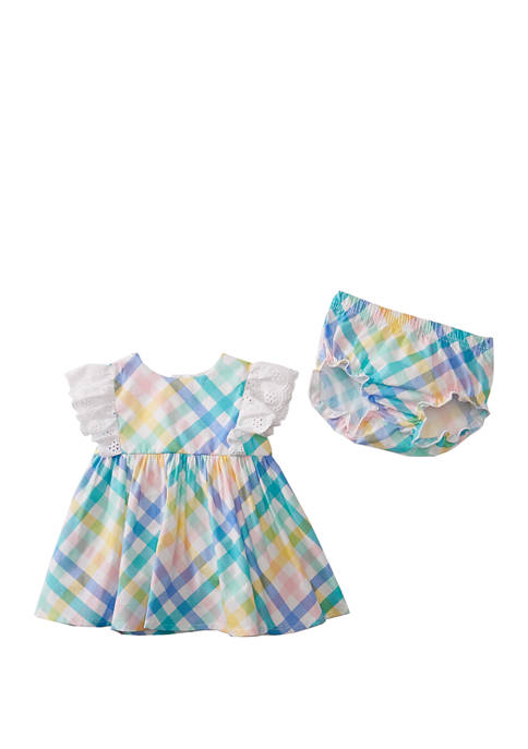 Crown & Ivy™ Baby Girls Plaid Dress and
