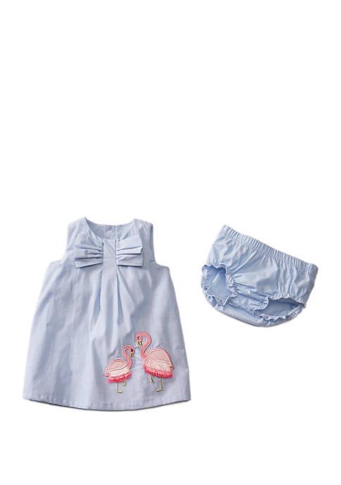 Crown & Ivy™ Baby Girls 2 Piece Flamingo