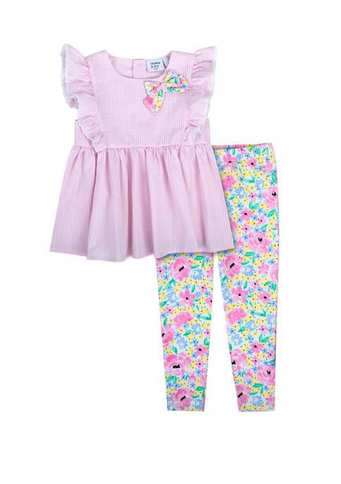 Crown & Ivy™ Toddler Girls 2 Piece Seersucker