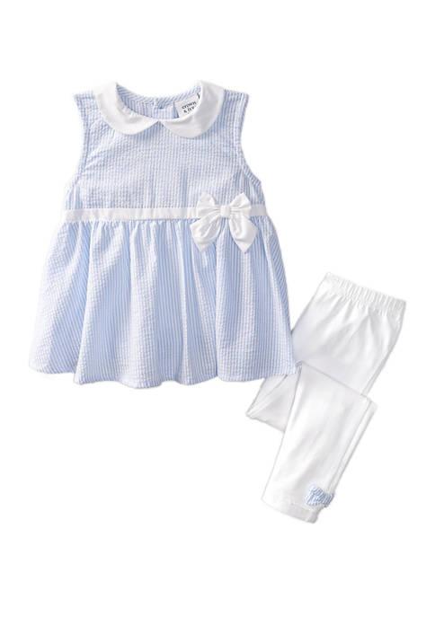 Crown & Ivy™ Toddler Girls Seersucker Stripe Top