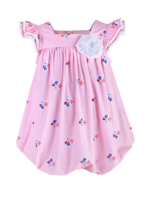 Crown & Ivy™ Baby Girls Printed Poplin Bubble