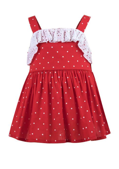 Crown & Ivy™ Baby Girls Polka Dot Dress