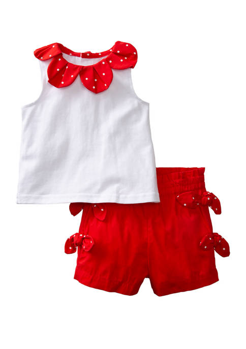 Crown & Ivy™ Baby Girls Red and White