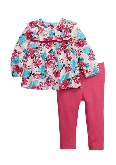 Crown & Ivy™ Baby Girls 2-Piece Floral Print