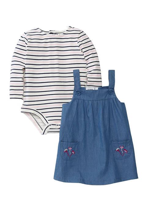 Crown & Ivy™ Baby Girls Jumper Set