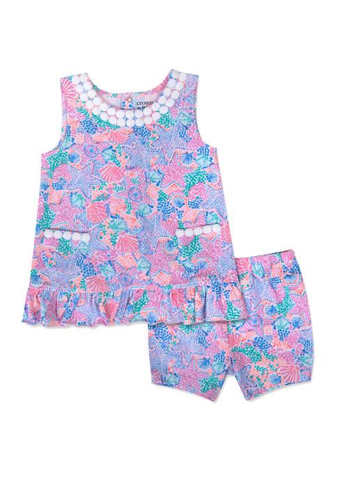 Crown & Ivy™ Toddler Girls Printed Peplum Tank
