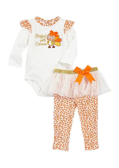 Crown & Ivy™ Baby Girls Stuffed 2-Piece Set