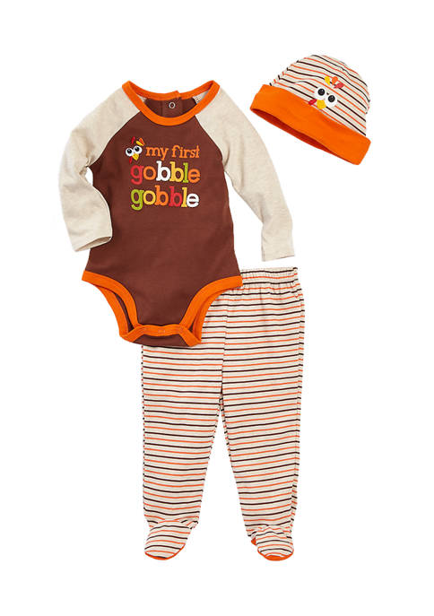 Crown & Ivy™ Baby Boys Gobble 3-Piece Set
