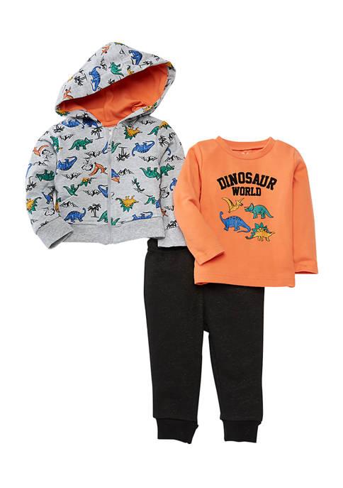 Crown & Ivy™ Baby Boys Dino Hooded Jacket