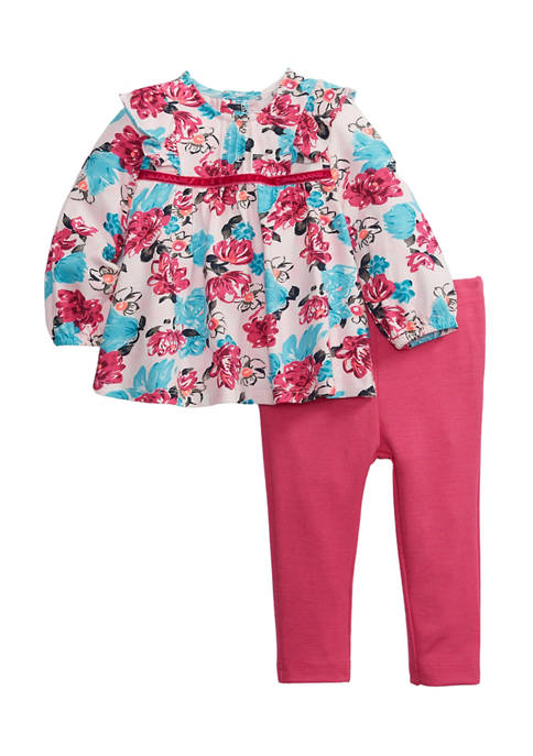 Crown & Ivy™ Toddler Girls Floral Top Ponte
