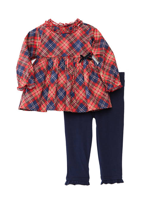 Crown & Ivy™ Baby Girl Plaid Woven Tunic