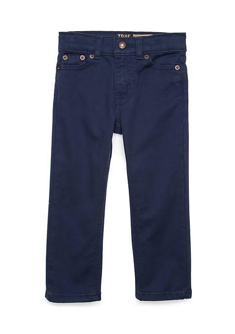 Boys 4-8 Stretch Twill Henson Navy Pants