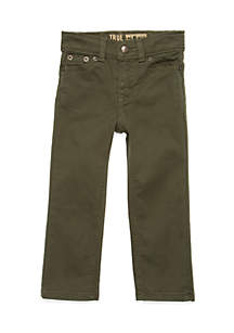 Toddler Boys Stretch Olive Twill Pant