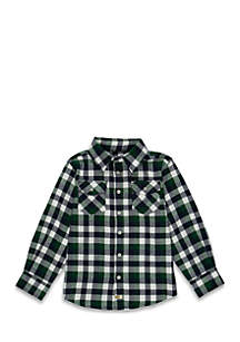 Toddler Boys Two Pocket Long Sleeve Woven Shirt
