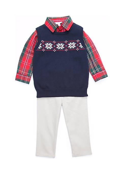 Crown & Ivy™ Baby Boys Sweater Vest Set