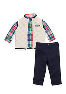 Infant Boys Woven Vest Set