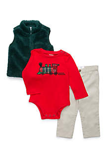 Infant Boys Bodysuit And Vest Set